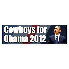 Cowboys for Obama 2012 bumper sticker