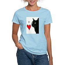 I Love Cats Women's Pink T-Shirt