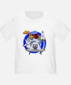 Outer Space 5th Birthday T
