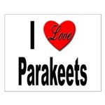I Love Parakeets Small Poster