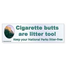 """Litter Free"" Bumper Bumper Sticker"