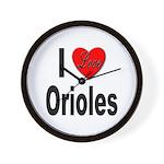 I Love Orioles Wall Clock