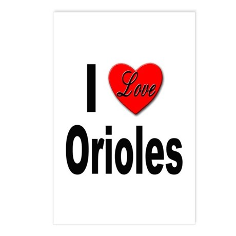I Love Orioles Postcards (Package of 8)