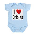I Love Orioles Infant Creeper