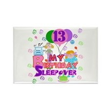 13th Sleepover Birthday Rectangle Magnet