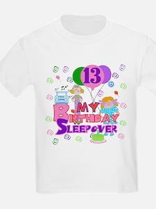 13th Sleepover Birthday Kids T-Shirt