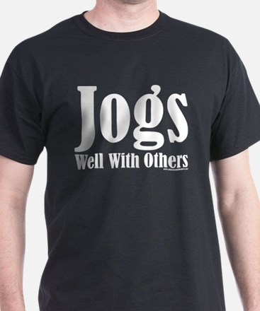 Jogs Well With Others Black T-Shirt