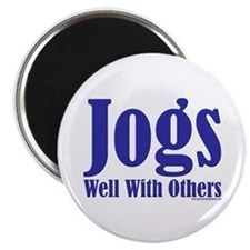 """Jogs Well With Others 2.25"""" Magnet (100 pack)"""
