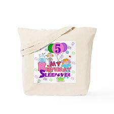 5th Sleepover Birthday Tote Bag