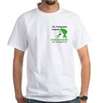 Broad Shoulders White T-Shirt