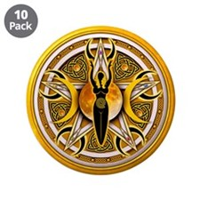 """Pentacle of the Yellow Goddes 3.5"""" Button (10"""