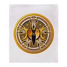 Pentacle of the Yellow Goddes Throw Blanket