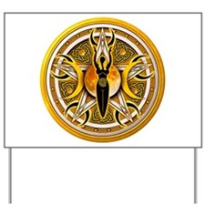 Pentacle of the Yellow Goddes Yard Sign