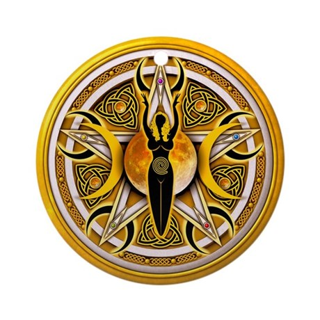 Pentacle of the Yellow Goddes Ornament (Round)