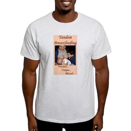 Tandem Nursing Advocacy Ash Grey T-Shirt