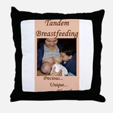 Tandem Nursing Advocacy Throw Pillow