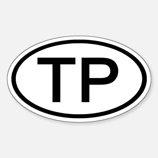 TP - Initial Oval Oval Decal