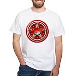Red Triple Goddess Pentacle White T-Shirt