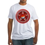 Red Triple Goddess Pentacle Fitted T-Shirt