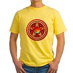 Red Triple Goddess Pentacle Yellow T-Shirt