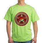 Red Triple Goddess Pentacle Green T-Shirt