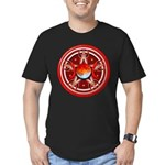 Red Triple Goddess Pentacle Men's Fitted T-Shirt (