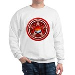 Red Triple Goddess Pentacle Sweatshirt