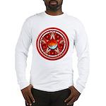 Red Triple Goddess Pentacle Long Sleeve T-Shirt