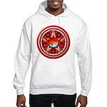 Red Triple Goddess Pentacle Hooded Sweatshirt