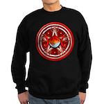 Red Triple Goddess Pentacle Sweatshirt (dark)