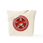 Red Triple Goddess Pentacle Tote Bag