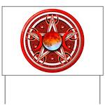 Red Triple Goddess Pentacle Yard Sign