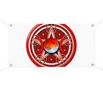 Red Triple Goddess Pentacle Banner