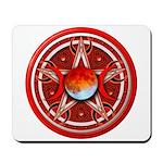 Red Triple Goddess Pentacle Mousepad