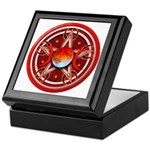 Red Triple Goddess Pentacle Keepsake Box