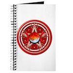 Red Triple Goddess Pentacle Journal
