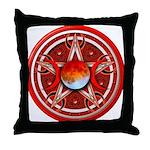 Red Triple Goddess Pentacle Throw Pillow