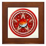 Red Triple Goddess Pentacle Framed Tile