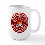 Red Triple Goddess Pentacle Large Mug