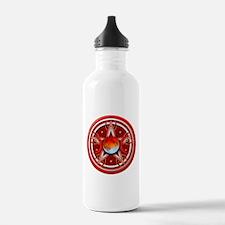 Red Triple Goddess Pentacle Water Bottle
