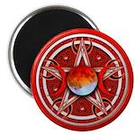 Red Triple Goddess Pentacle Magnet