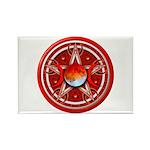 Red Triple Goddess Pentacle Rectangle Magnet