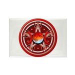 Red Triple Goddess Pentacle Rectangle Magnet (10 p