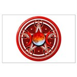 Red Triple Goddess Pentacle Large Poster