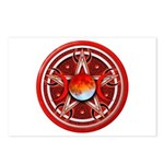 Red Triple Goddess Pentacle Postcards (Package of