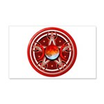 Red Triple Goddess Pentacle 22x14 Wall Peel