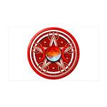 Red Triple Goddess Pentacle 38.5 x 24.5 Wall Peel