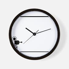 Movie Cine Projector Backdrop Wall Clock