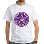 Purple Triple Goddess Pentacle White T-Shirt