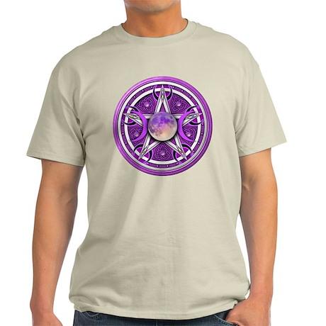 Purple Triple Goddess Pentacle Light T-Shirt